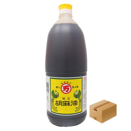 [201]丸万印 純正胡麻油 一升ポリ 1650g ✕6入 1箱 業務用 お買い得!! 送料無料