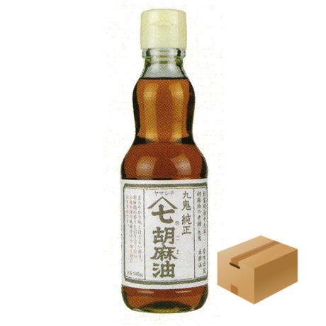 [135]九鬼ヤマシチ純正胡麻油 340g✕12✕1箱【お取り寄せ品】