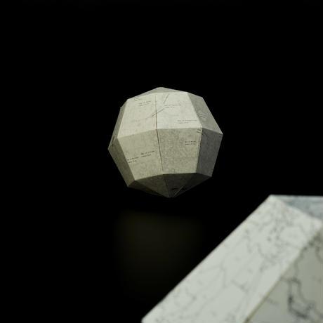 月の満ち欠け [ブランク] 組立式月球儀