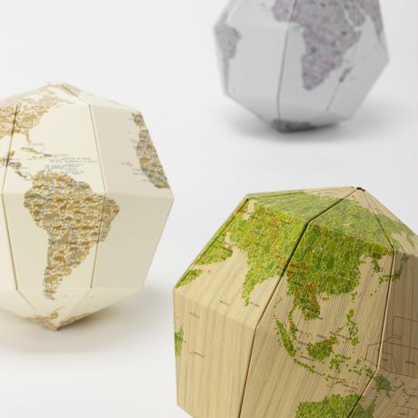 組立式地球儀 地軸23.4度 マテリアル メタル
