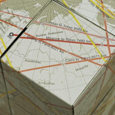 回転式地球儀 8つの立方体 エア&オーシャン