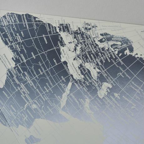 三角地球儀と四角い地図 [プラチナ] オーサグラフ世界地図