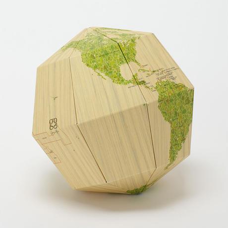 組立式地球儀 地軸23.4度 マテリアル ウッド