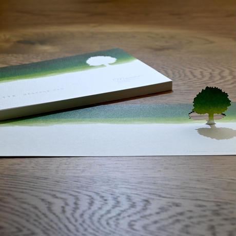 シルエットメッセージパッド 約束の木