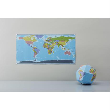 テーブルに置いて、壁に貼って [ベーシック] 自立式世界地図