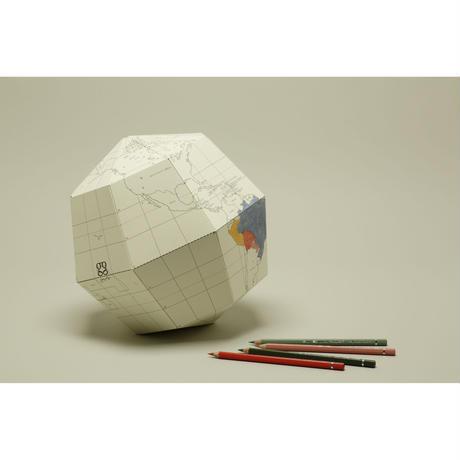 組立式地球儀 地軸23.4度 ブランクL