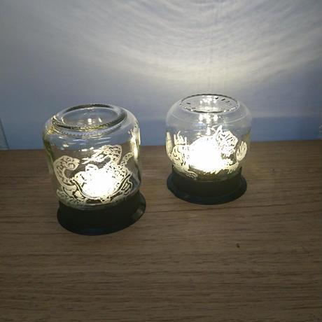ライト付き飾りびん 2個