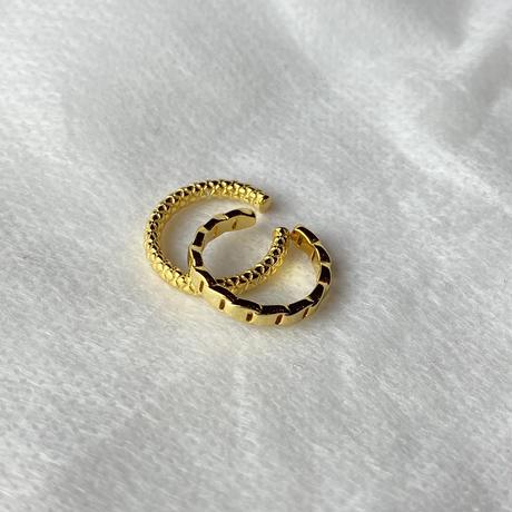 イヤーカフ 1pc    tsumugi( ツムギ) or  (マドラン) Gold