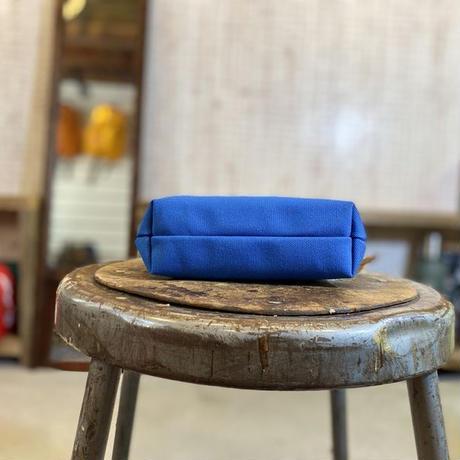 帆布ポーチ (ブルー)