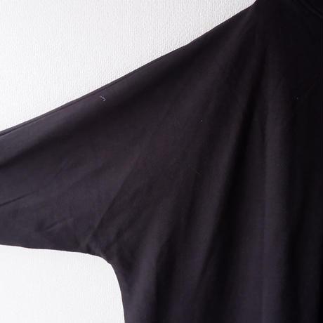 SLOW HANDS(スローハンズ)/オーガニックコットン ワイドロングスウェットカーディガン/Black