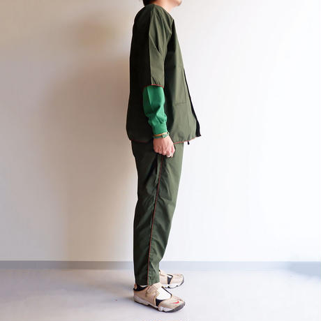TIGRE BROCANTE (ティグルブロカンテ)/マイクロコットンタイプロード/ノースビーチカーディガンシャツ/グリーン