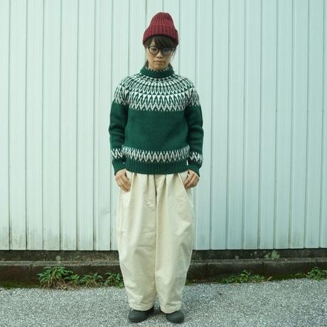 "GUERNSEY WOOLLENS(ガーンジーウーレンズ)/""ICELANDIC YOKE PULL OVER "" BOTTLE×ARAN/OATMEAL"