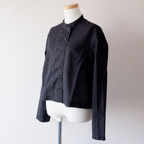 "CAERULA (カエルラ)/""front double stand color blouse/Black"