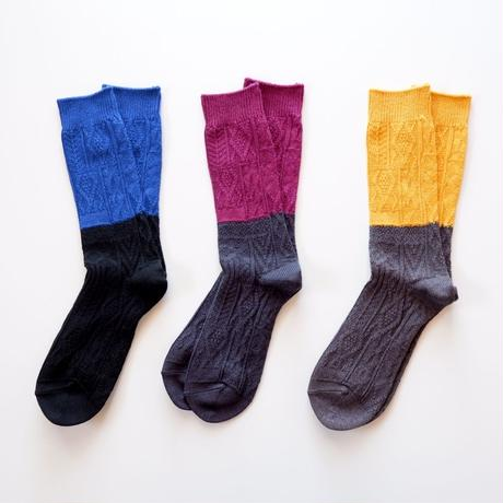 RoToTo  / biscolor crazy cable socks