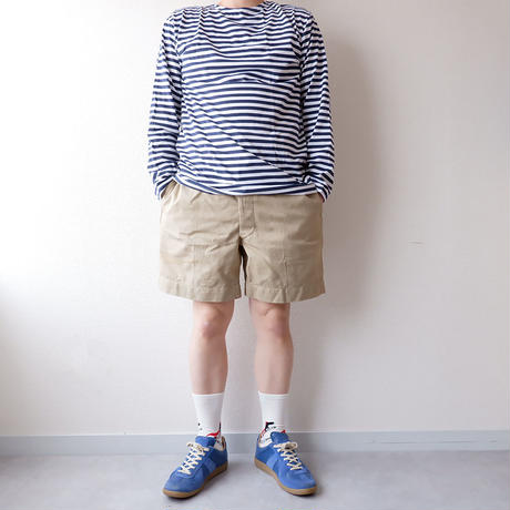 "【Russian military】""Long sleeve border Tee""/dead stock/Navy"