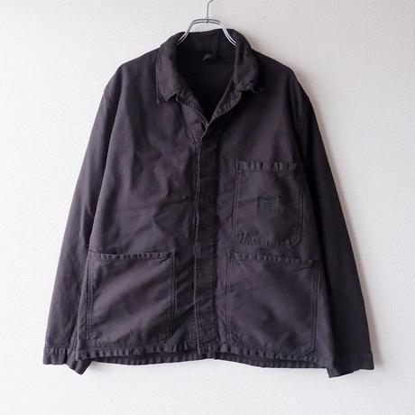 【Black-overdye】euro work shirt-jacket