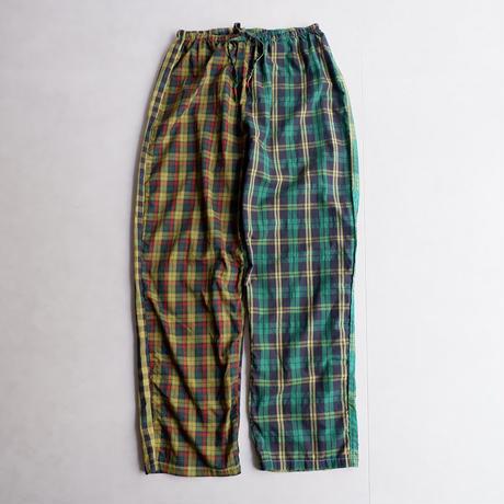 TIGRE BROCANTE(ティグルブロカンテ)/Madras  Check Mix  Kurta Pants/yellow green
