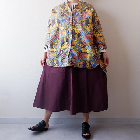 TIGRE BROCANTE (ティグルブロカンテ)/ラジャスターンバックタックロングシャツ/Yellow