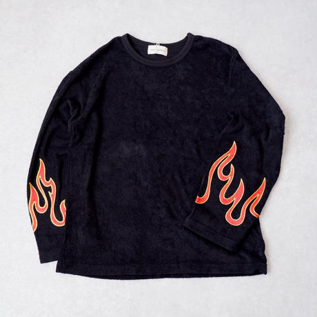 masterkey(マスターキー)/Fire/ ロングスリーブTシャツ/Black