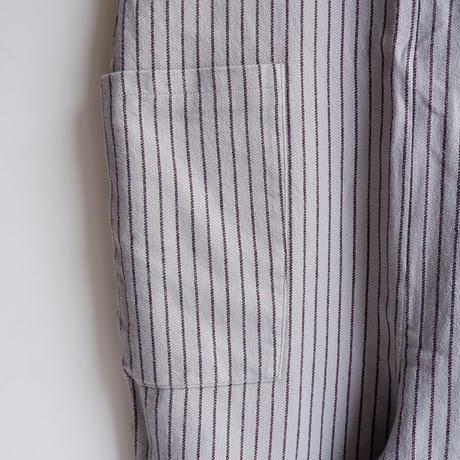 TIGRE BROCANTE (ティグルブロカンテ)/ビックマックストライプ ジップアップサロペット/Light Grey
