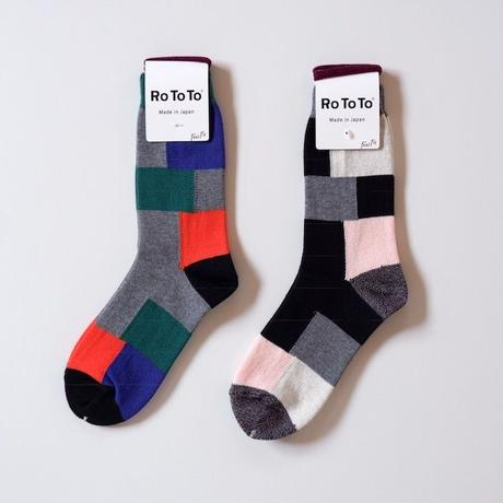 RoToTo(ロトト)COTTON PATCHWORK SOCKS
