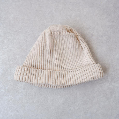 RoToTo(ロトト)/cotton rollup beanie /ivory