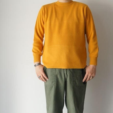 RoToTo(ロトト)/COTTON THERMAL L/S KNIT イエロー