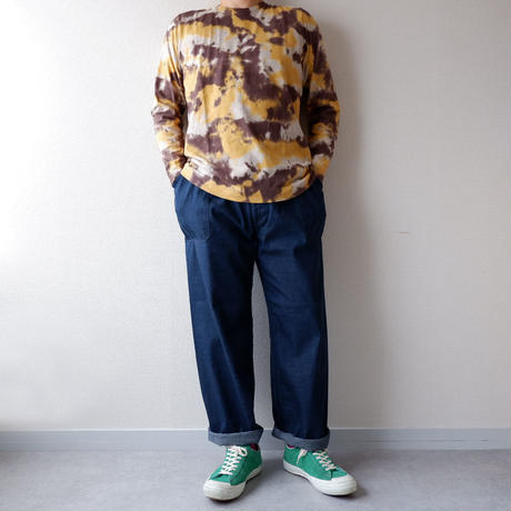 TIGRE BROCANTE (ティグルブロカンテ)/注染camo Crew Neck Long Sleeve /mustard