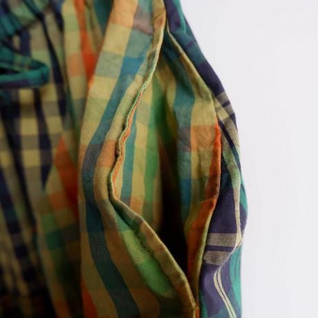 TIGRE BROCANTE( ティグルブロカンテ)/マドラスCK Mix フレアランダム パッチスカート/Green