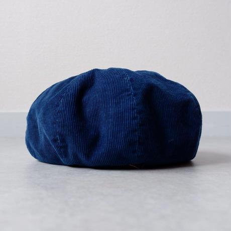 weac.(ウィーク)/ベレー帽 BASIC BERET/indigo corduroy
