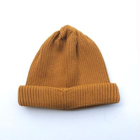 RoToTo(ロトト)cotton rollup beanie/ YELLOW