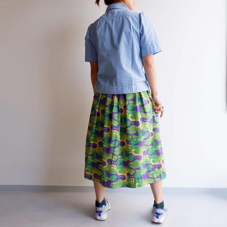 TIGRE BROCANTE (ティグルブロカンテ)/タイプライター丸衿パフスリーブシャツ/Sax