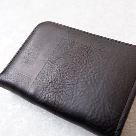 yes crafts(イエスクラフツ)/SUKI-TSUGI NUME SHORT WALLET/Black