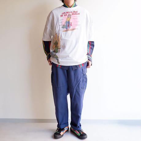 Nasngwam(ナスングワム)/PUZZLE TEE /White-M-1