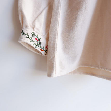 TIGRE BROCANTE (ティグルブロカンテ)/ Flor刺繍 スモックチュニック/ Natural