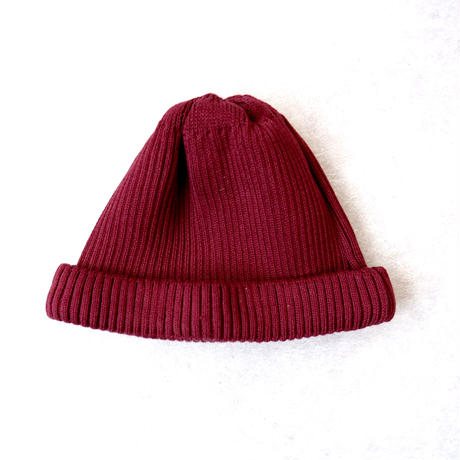 RoToTo(ロトト)/cotton rollup beanie /Burgundy
