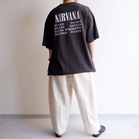 "THRIFTY LOOK(スリフティールック) /""nirvāṇa"" tee with tee/bund tee"