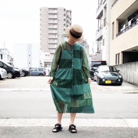 UNIVERSAL TISSU (ユニバーサルティシュ)/see-through one-piece/green