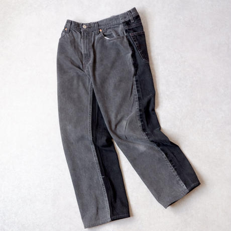 MADE  by Sunny side up(サニーサイドアップ)/ 2for1 remake denim/front×back/black/size2