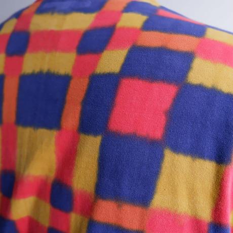 TIGRE BROCANTE (ティグルブロカンテ)/ブロックチェック注染ベニスビーチポケット半袖T Toyチェック