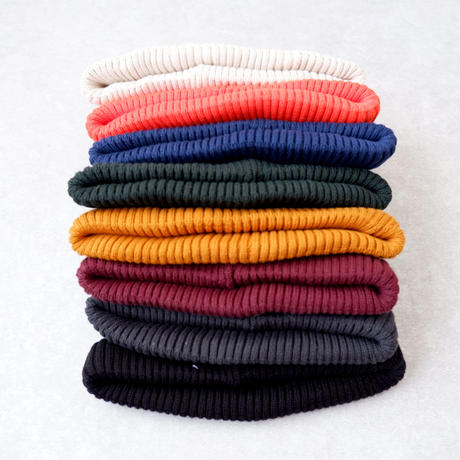 RoToTo(ロトト)/cotton rollup beanie /darkgreen
