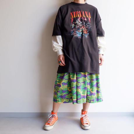 """THRIFTY LOOK(スリフティールック)/""""nirvāṇa""""オフィシャルライセンシー S/S Tシャツ"""