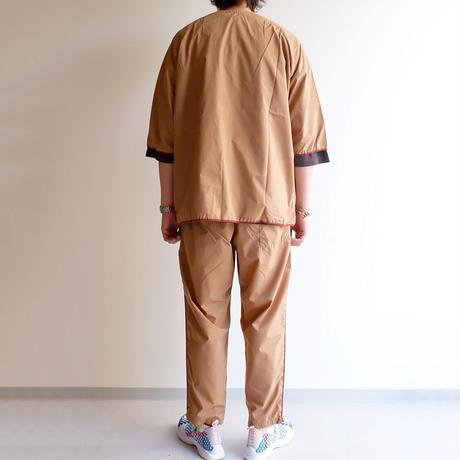 TIGRE BROCANTE (ティグルブロカンテ)/マイクロコットンタイプロード/ノースビーチカーディガンシャツ/ベージュ