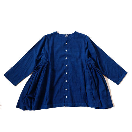 TIGRE BROCANTE(ティグルブロカンテ)/side gather flare blouse/flower