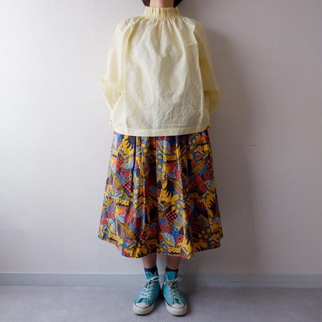 TIGRE BROCANTE( ティグルブロカンテ)/ラジャスターンプリントポケットフィセルスカート/イエロー