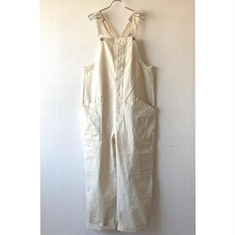 【新型】HARVESTY (ハーベスティ)/CHINO CLOTH OVERALLS(チノ オーバーオール)/ivory