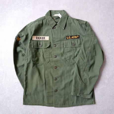 【vintage】60S〜  US Army utility shirt/us military