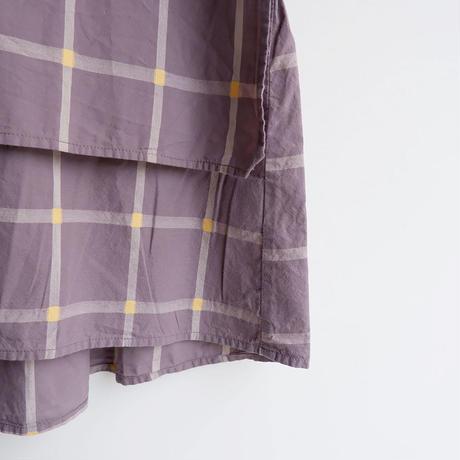 TIGRE BROCANTE (ティグルブロカンテ)/Cut Dobby Check Rib Layer Blouse/gray