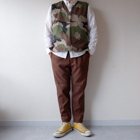 KAFIKA (カフィカ)/STA-PREST×SOLOTEX  ONETACK TROUSERS  /brown