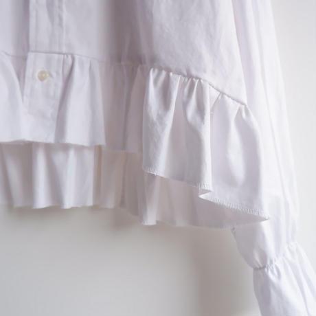 【ORIGNAL REMAKE】Remake gather frill shirt/White-2